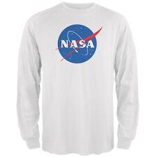 NASA Logo White Adult Long Sleeve T-Shirt