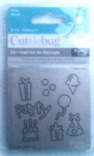 Cuttlebug 3x3 Die Cutter PARTY  fits Sizzix machine