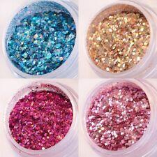 (158,00 €/ 100 G )) Nail Art - Irridescente Holo Brillante Mix Polvere Colori a