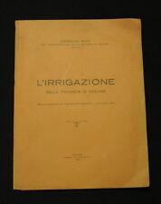 Idrografia Sardegna Congresso Irrigazione nella provincia di Cagliari 1925