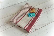 "Organic Softened Stonewashed Linen Bath Towel. Provance French Striped 28"" X 56"""