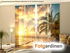 Fotogardinen Sunset, Schiebevorhang Schiebegardinen 3D Fotodruck, auf Maß