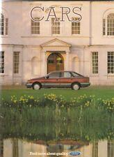 Ford Cars July-August 1985 UK Brochure Fiesta Escort Orion Sierra Capri Granada