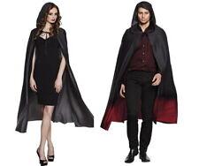 Boland Cape Fade schwarz grau oder schwarz rot Umhang Halloween Halloweencape