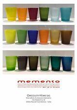 Memento - Glass - Bicchieri in Vetro - Vari Colori h cm 10 x ø 8 -1° Qualità