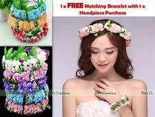 Headpiece Floral Band Communion Wedding Hair Flower Girl Bridesmaid + Free Gift