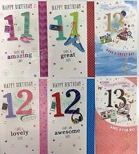 Happy 11th Birthday / Happy 12th Birthday / Happy 13th Birthday Card Boy Girl