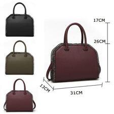 Women's Tote Handbag Faux Leather Designer Style Satchel Shoulder Strap Girl Bag