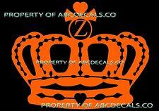 VRS Crown Queen King Princess TWILIGHT INITIAL Z Car Decal Vinyl Wall Sticker