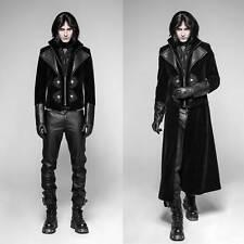 PUNK RAVE Edler Gothic Mantel und Jacke -multifunktional- Schwarz Herren Coat