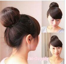 Damen Haarteil Zopf Haarverlängerung Hepburn-Dutt Perücken Haarknoten Neu