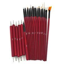 Glow 20 piece Nail Art Brushes and Nail Dotting Tools Set