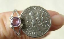 Amethyst Sterling Silver Ring child sizes Varied designs Light Purple Gemstone