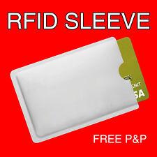Anti bloqueo de escaneo RFID contactles manga para tarjeta de crédito & tarjeta de identificación