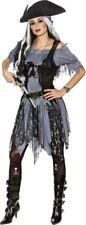 Orl - Damen Kostüm Gothic Geister Piratin Karneval Halloween