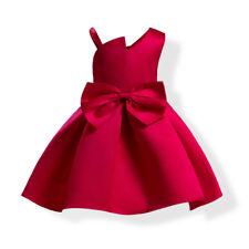 Girl dress bow children's clothing Princess skirt for Birthday Wedding Party NEW
