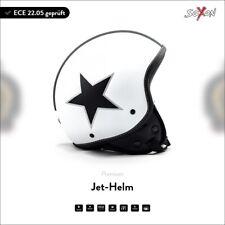 SOXON SP-301 white Star casque jet vespa moto scooter TOP +ECE+ XS S M L XL XXL