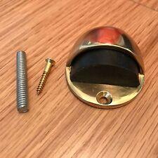 """5-10 Pack ottone ovale con cappuccio DOOR STOP DOOR GUARD COMPLETO CON RACCORDI 50mm 2 """""""