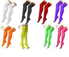 New Ladies Over Knee Plain Lycra Plain Socks Golf Thigh High School Socks 4-6