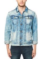 Buffalo David Bitton Men's Bleached & Printed Joe Denim Jacket BM20565 $99 NEW