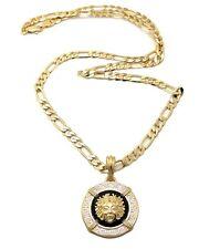 "New Medusa Hip Hop Pendant 5mm & 24"" Figaro Chain Necklace XSP351"