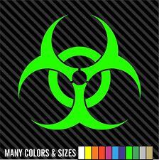Bio-hazard vinyl die cut decal sticker cur truck wall / Choose Size and Color