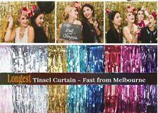 2m 3m Metallic Tinsel Curtain Foil Wedding Birthday Hens Party Decorations 2018