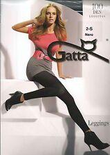 GATTA feine Leggings 100 DEN schwarz grau lila pink grün gelb blau NEU