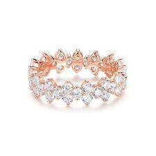 Victoria Cluster Statement Ring Sterling Silver Rose Gold Ptd Bridal Cocktail