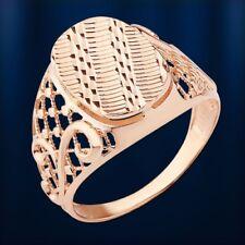 Rose Gold 585 Herrenring Ring ohne Steine diamantiert Band Luxus Geschenk Neu