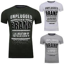 TOM TAILOR Denim T-Shirts/Tops T-Shirt mit geflocktem Schrift-Print