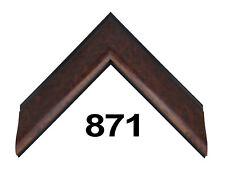 "Custom Picture Frame | 1 3/4"" Sleek Burl Wood | Great for Artwork & Photos"