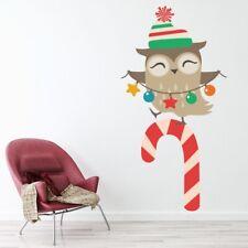 Owl Candy Cane Kerstmis- Muursticker WS-50756