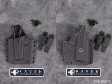 NEW LEFT-HAND RAVEN CONCEALMENT PHANTOM MODULAR BLACK FULL SHIELD HOLSTER