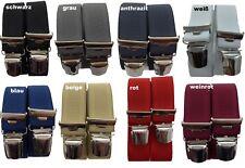eleganter Herrenhosenträger, 35mm breit, 4 extra starke ABC-Clips,Blitzversand