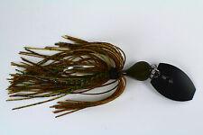 """Vibrating Venom Chatter Bait - 3/8 ounce - """"GREEN PUMPKIN FLAKE"""" - Bass / Pike"""