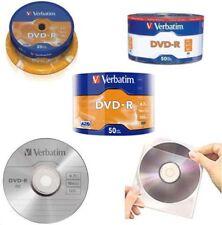 DVD-R vuoti vergini 4.7GB 120MIN. da 10 20 50 100 200 pz., e/o  bustine