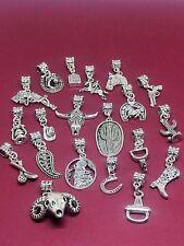 Western Themed Large Hole Dangle Charm Bead for European Charm Bracelet/Necklace
