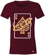 "ACE OF J's - Women/Juniors T-Shirt to Match Air Retro 11 ""VELVET"" Maroon Heiress"