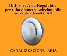 GRIGLIA DI MANDATA BOCCHETTA ARIA CALDA CANALIZZAZIONE STUFA DIAM 80 / 100 / 125