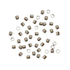 100pz SCHIACCINI METALLICI 2mm minuteria bijoux componenti materiale faidate DIY
