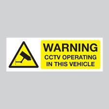 CCTV / Dash Cam Warning Stickers Vehicle / Car / Lorry / Truck / Van / HGV