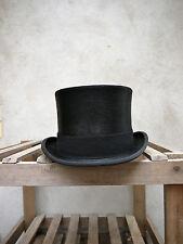 Polished Melusine Top Hat by Christys' of London –Black Fur Felt Topper, UK Made