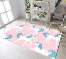 Magic Cartoon Characters Cute Unicorn Area Rugs Bedroom Living Room Floor Mat