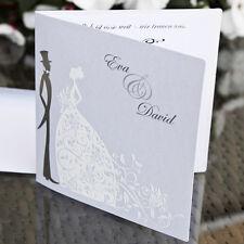 Einladungskarte Hochzeit HE045 mit Umschlag - Hochzeitseinladungen - neu