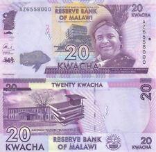 MULTI-VARIATION LISTING 2 denominations notes of Malawi UNC