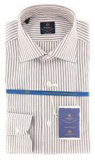 New $600 Luigi Borrelli Brown Shirt - Extra Slim - (EV06412260RIO)