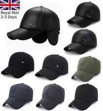 Leather Cotton Wool Felt Outdoor Baseball Cap Earmuffs Unisex Warm Sport Hat 3fde06579e33