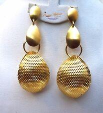 Extra Larga Chapado en Oro Pendiente Joyería para Damas