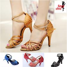 Scarpe per danze latino-americane professionali con strass. Latin dance shoes.